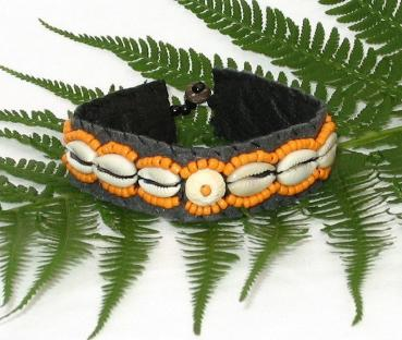 Muschelarmband orange