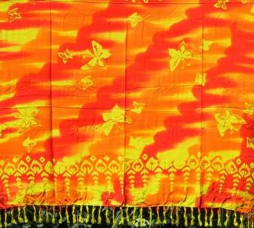 Sarong Schmetterlinge orange